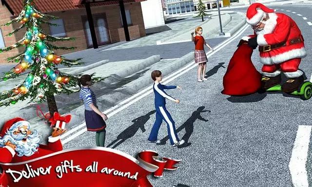 Hoverboard Rider 3D: Santa Xmas v1.2 Apk For Android