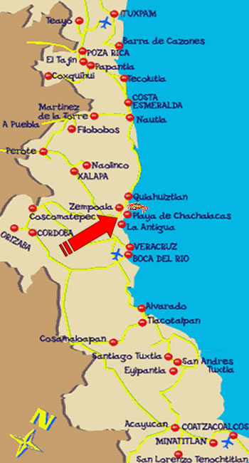 Mapa Chachalacas