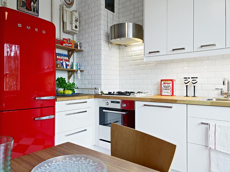 Cucine Con Frigo Smeg. Cool Cucina Su Misura Con Frigo Smeg With ...