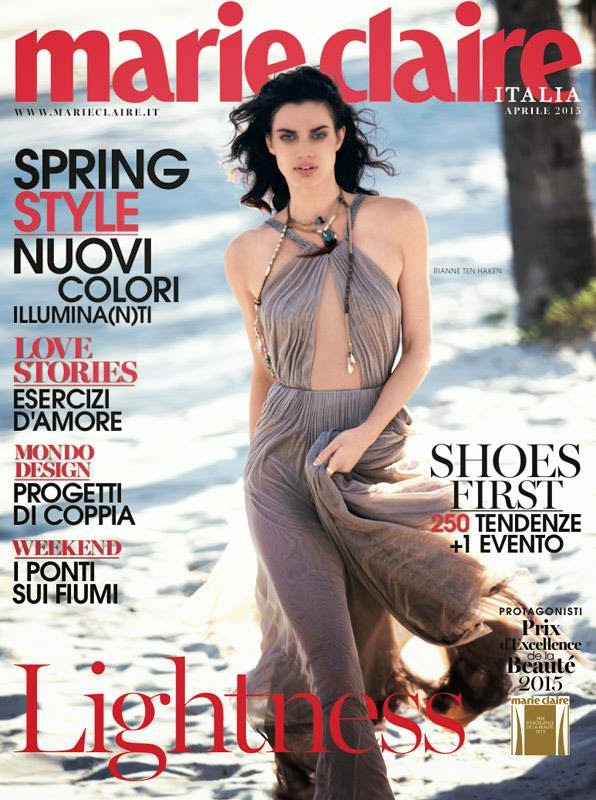 Model @ Rianne Ten Haken - Marie Claire Italy April 2015