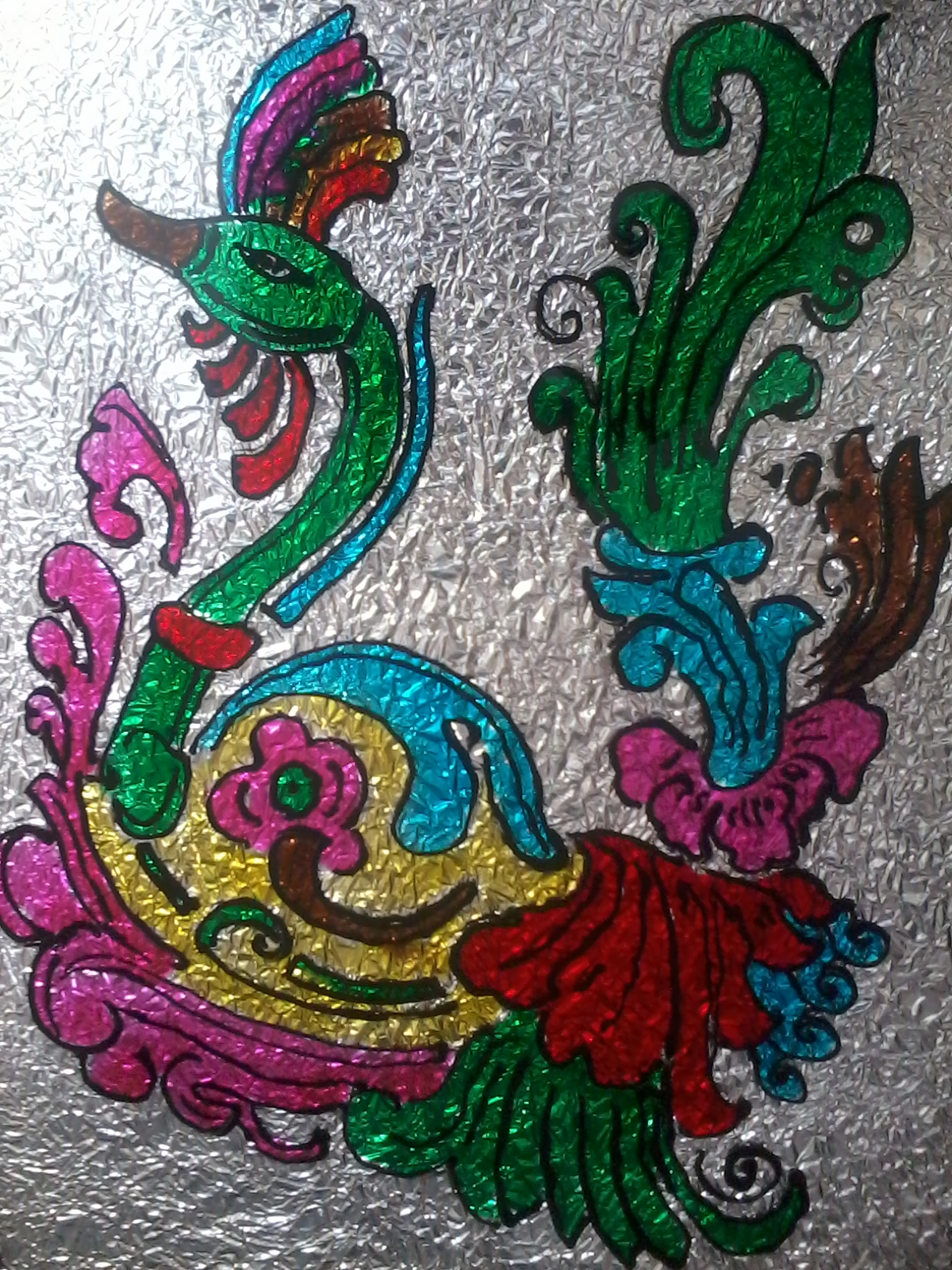 Peacock designs for glass painting - photo#24