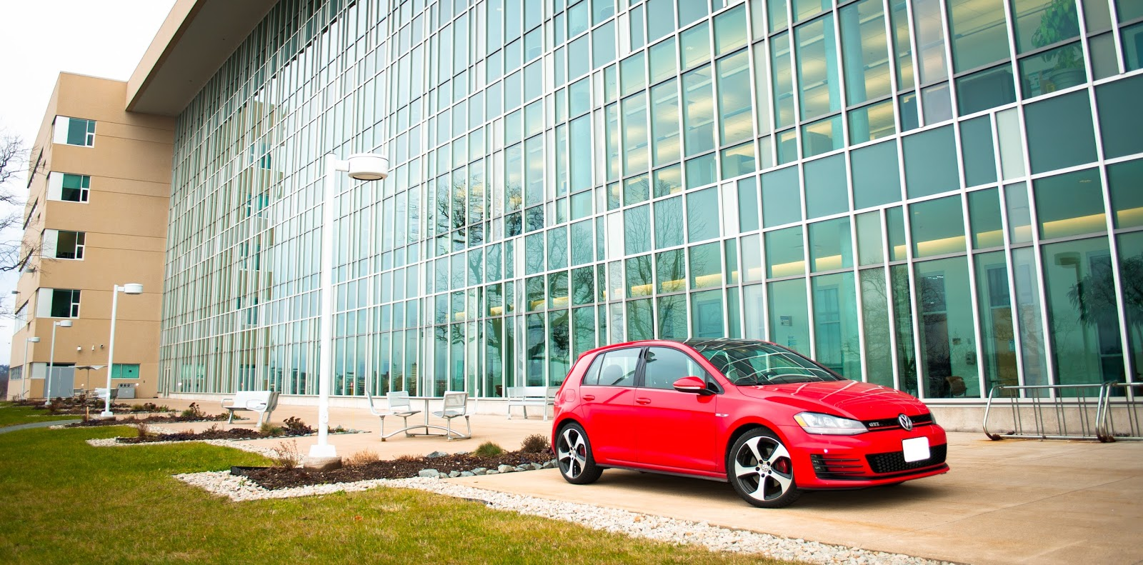 2015 Volkswagen Golf GTI red front