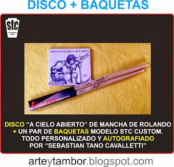 COMPRAR CD + BAQUETAS AUTOGRAFIADOS