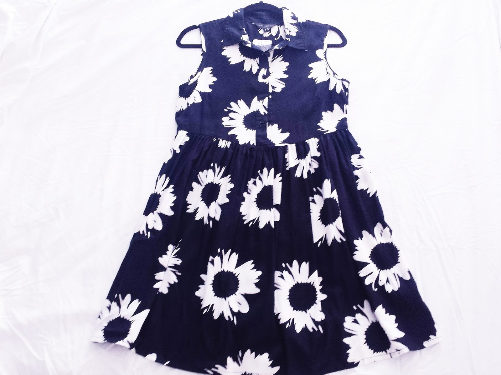 New Look Sunflower Print Shirt Skater Dress