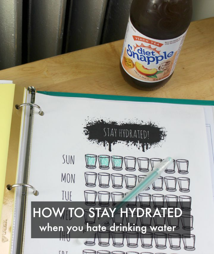 How to stay hydrated when you hate drinking water #SipAndBeFit