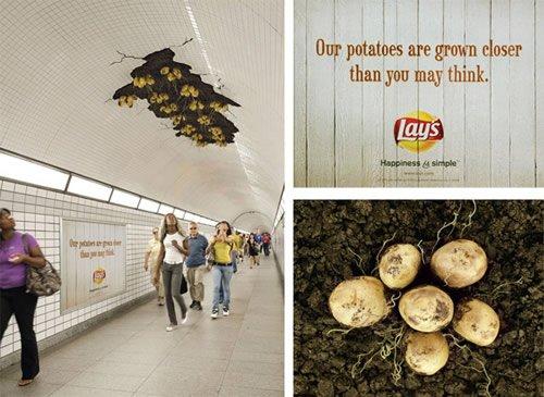 Lays - Iklan stiker kreatif