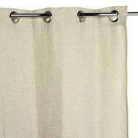 cortina anillas beige