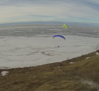 paragliding and kitesurfing crash accident