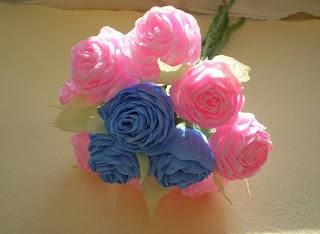 como hacer rosas de papel crepe - Hacer Rosas De Papel