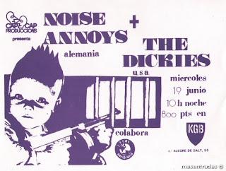 entrada de concierto de noise annoys