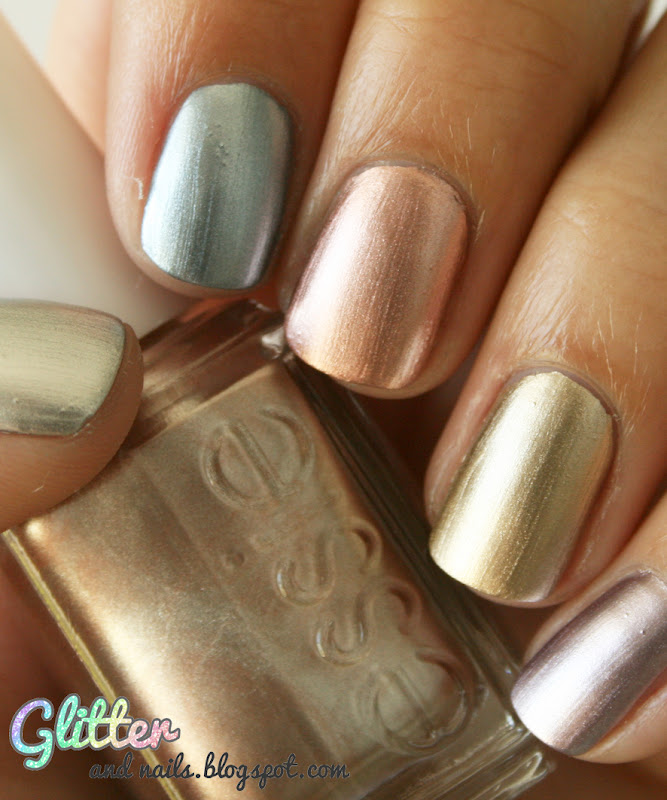 Essie Metallic Gold Nail Polish: Glitter And Nails: Collection Mirror Metallics