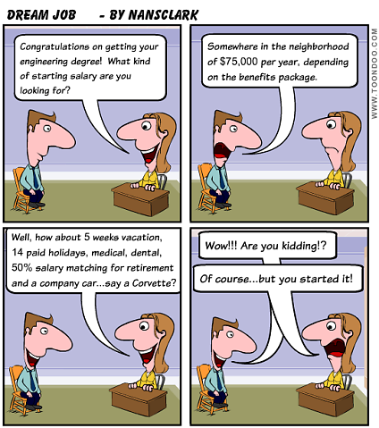 The Ideal Engineering Job Cartoon Thursday An Engineer S Aspect