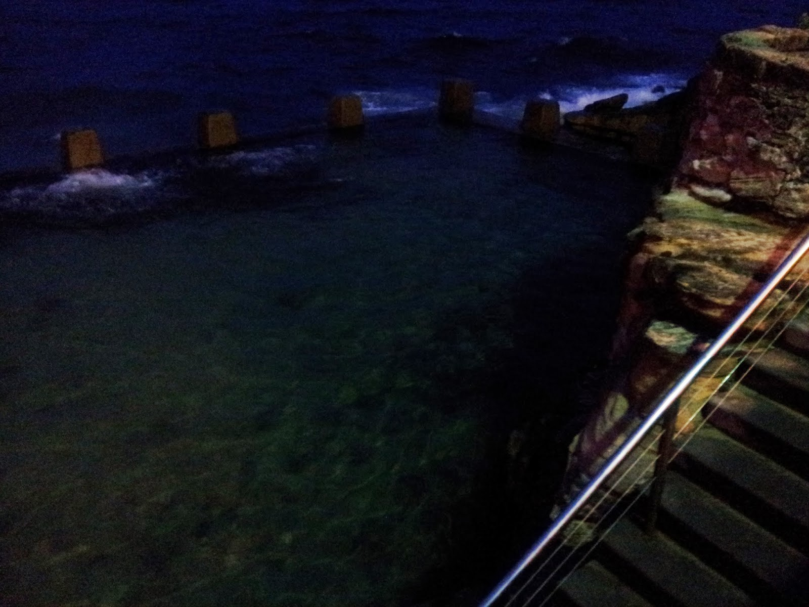 pool water at night. Bit Of Seaweed In The Pool. From A Recent Storm. Pool Water At Night