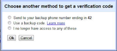 Choose Another Method To Get A Verification Code