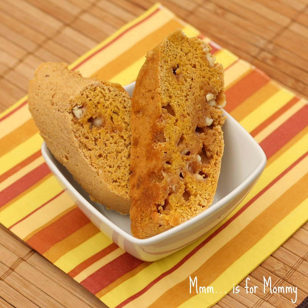 Pumpkin Spice & White Chocolate Biscotti — Mmm… is for Mommy