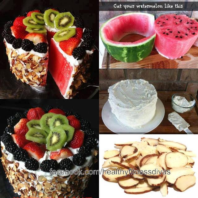 anguria-ricetta-veloce-torta-watermelon-cake-recipe-speedy