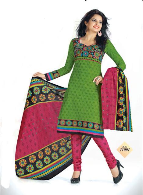 Unique design dress materials With Pure Cotton Dupatta