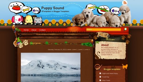 Puppy Blogger Templates