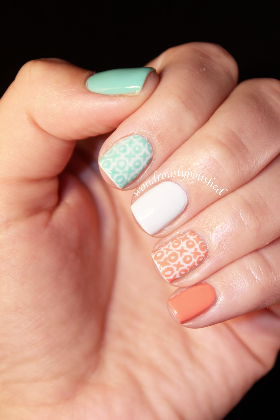 Wondrously Polished February Nail Art Challenge Day 3 Xoxo