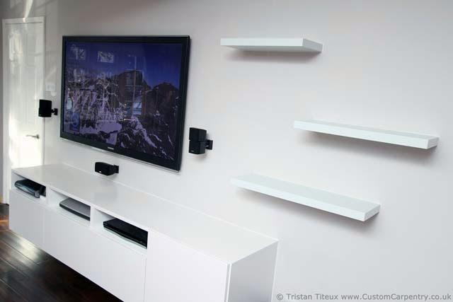 Floating corner tv shelf plans ayanahouse - Tv shelf design ...