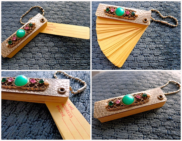 Vintage address book keychain