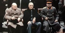 CONFERENCIA DE YALTA (Del 4 al 11 de febrero de 1945) CHURCHILL, ROOSEVELT y STALIN.