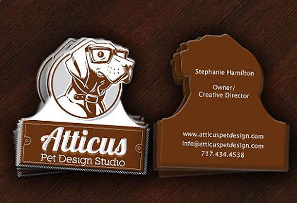 cartões de visita criativos - Atticus