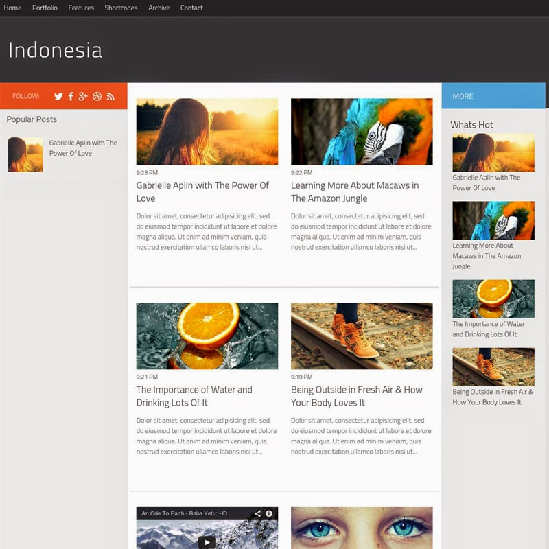 Indonesia free responsive blogger template