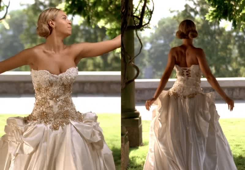 Beloved beyonce knowles wedding dresses for Beyonce wedding dress pictures