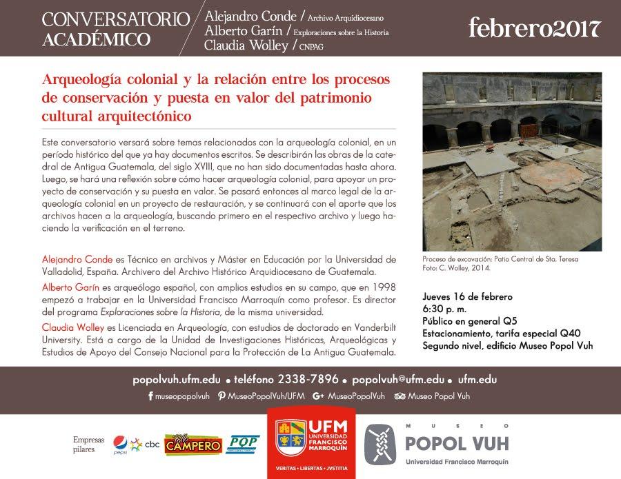 Museo del Popol-Vuh: Conversatorio académico