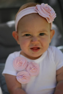 t-shirt flower onesie and headband