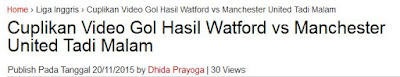 Watford vs  Man United