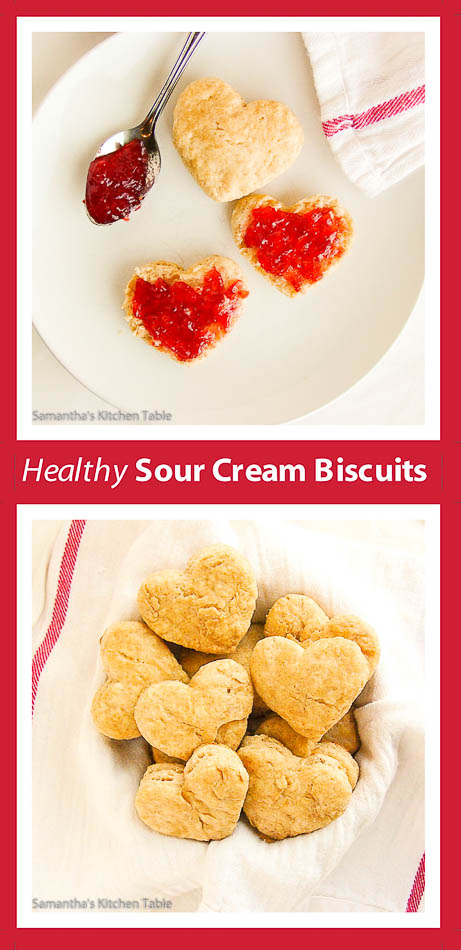 Healthy Sour Cream Biscuits