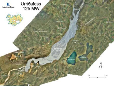 localizacion cascada urridafoss