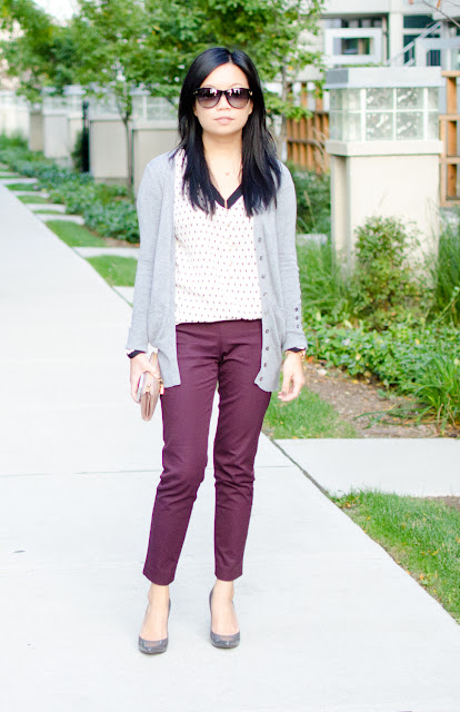 Burgundy pants, Oxblood pants, Fall fashion