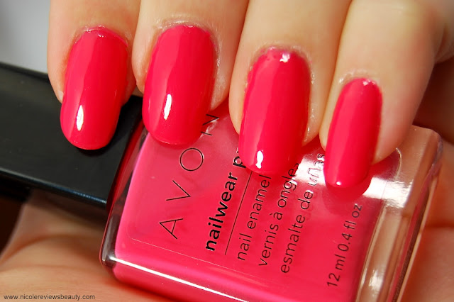 Avon Nailwear Pro+ Nail Enamel in Coral Reef Swatch