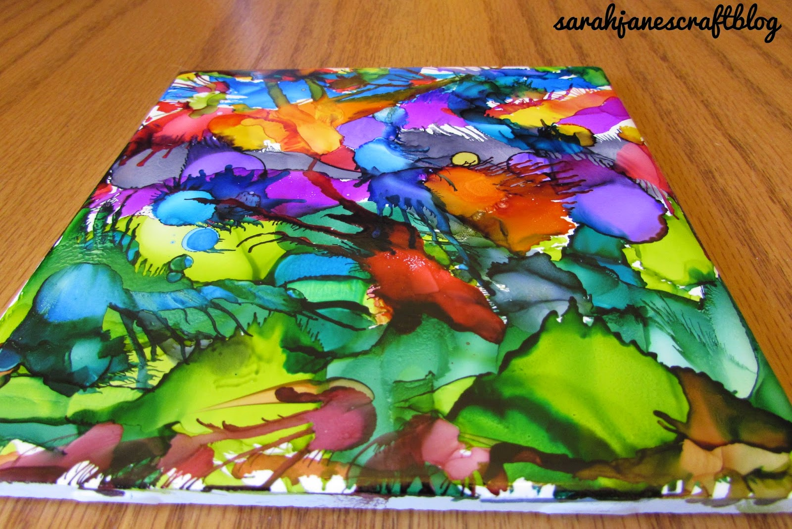Alcohol Ink Tile Trivets