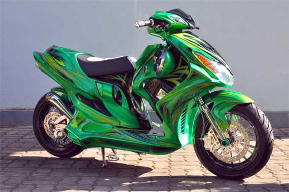 Gallery Foto Modifikasi Motor Yamaha Mio 2012