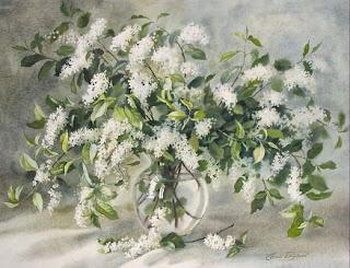 Flores, acuarela Elena Bazanova