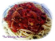 Espaguetis en Estofado