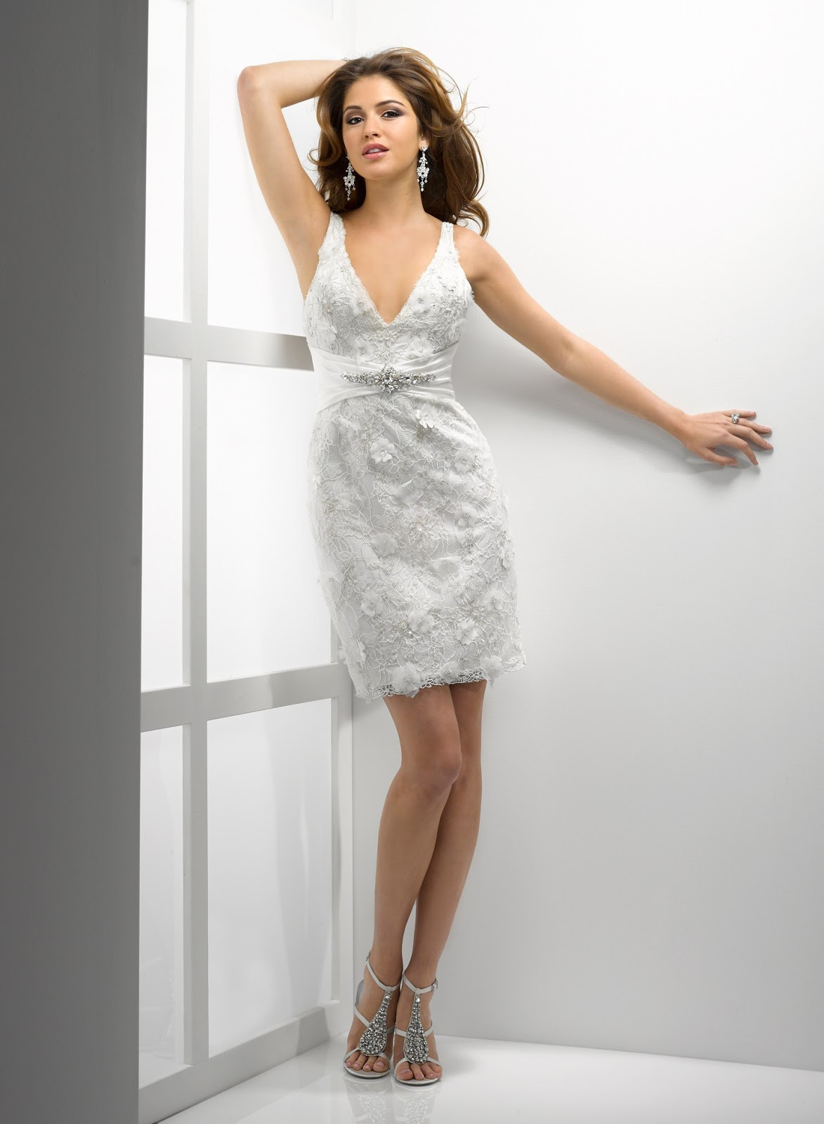 Pics for short beach wedding dresses 2012 for Short wedding dresses 2012