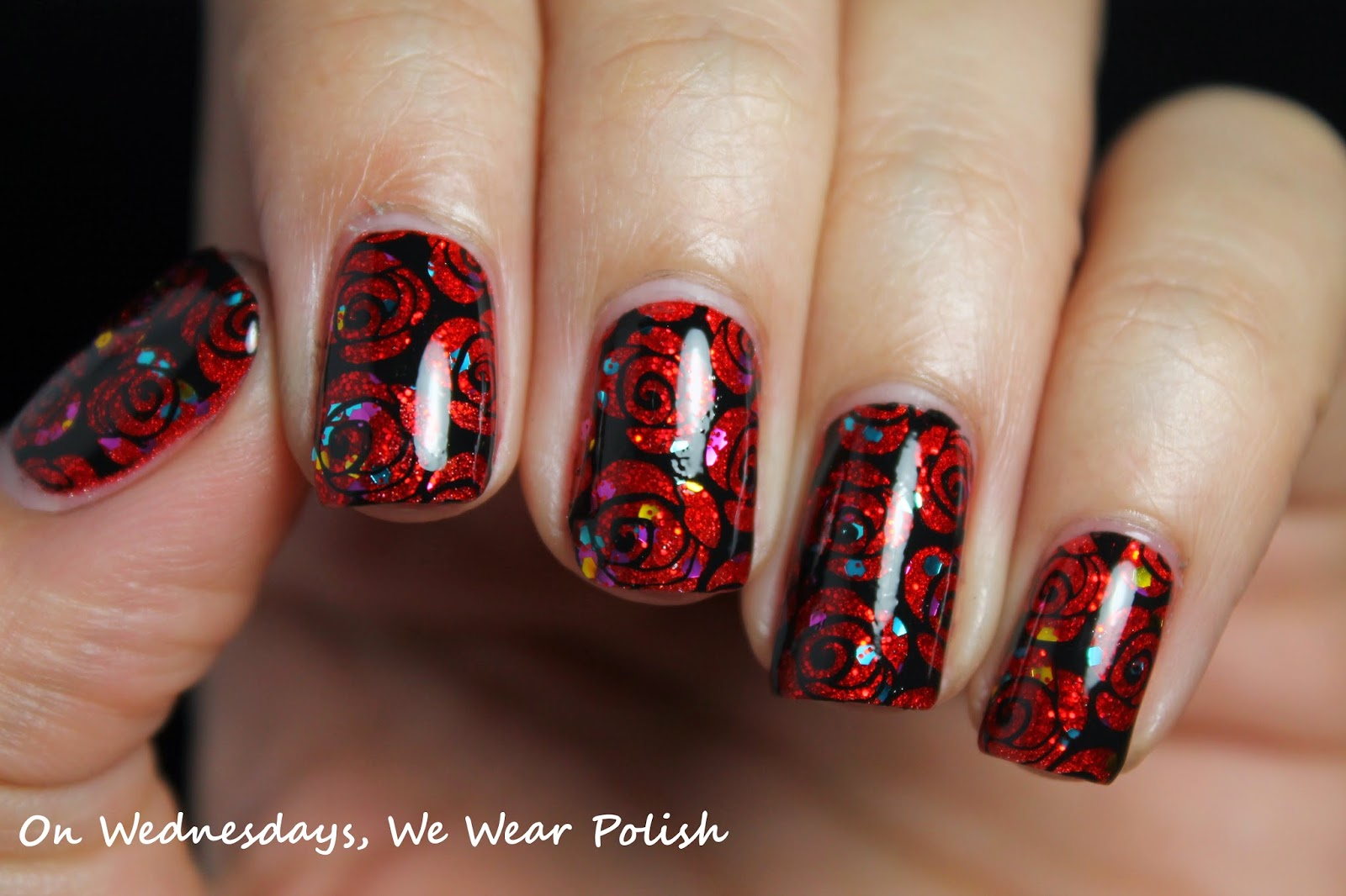 On Wednesdays, We Wear Polish : Roses are Red - A Valentine\'s Day Mani