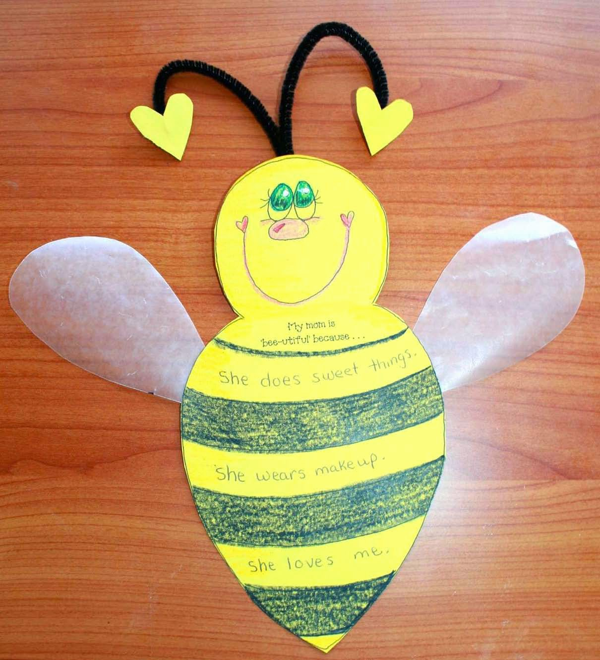 My Mom Is Bee Utiful BecauseWriting Prompt Craftivity For Mothers Day