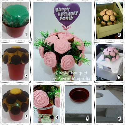 The Heart of our House: Step by Step Membuat Cupcake Bouquet dan