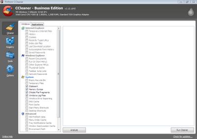 CCleaner Free Business Screenshot
