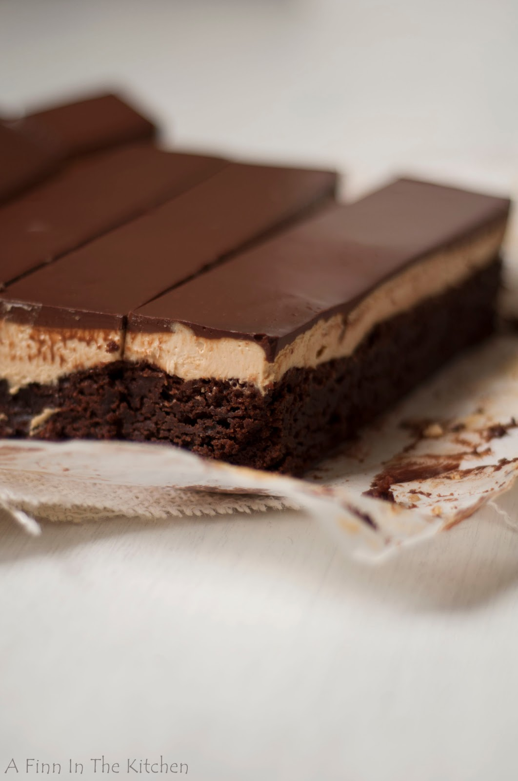 Finn In The Kitchen: Peanut Butter Cheesecake Layer Brownies
