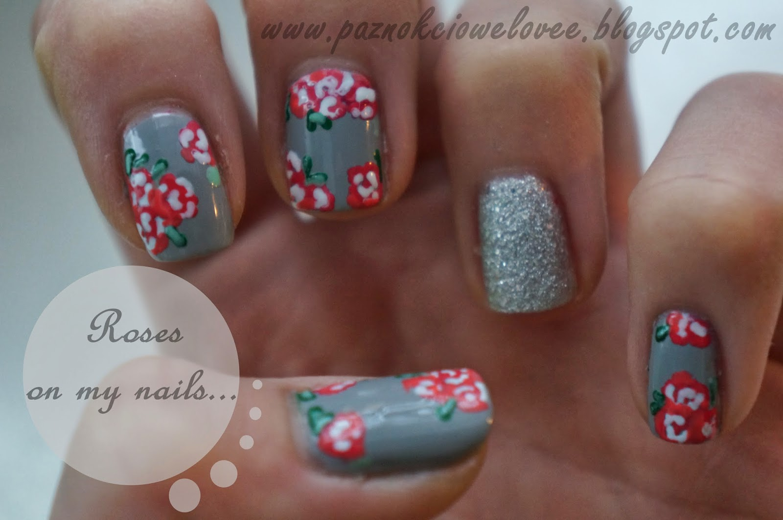 Roses on my nails