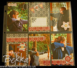 Fabby Page using the Divided Page Protectors from Stampin' Up! - get yours from Bekka here