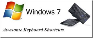 Windows 7  Shortcut Keys Common