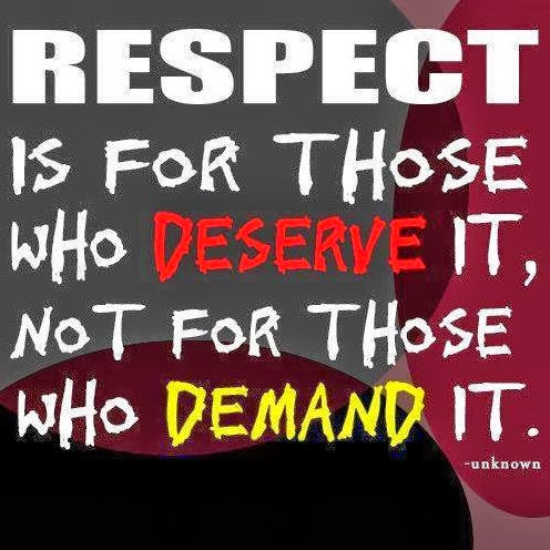 respect others Human beings all deserve equal respect because of their innate dignity  we  may go so far as to say that, if others don't think the way we do,.
